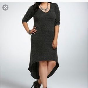 Torrid size 2 hi-low sweater dress